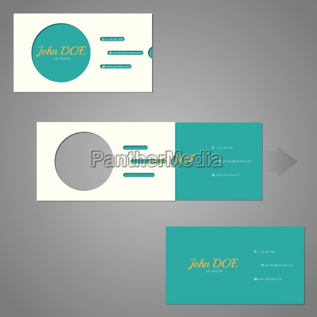 simplistic two piece business card with
