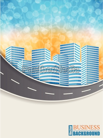 business brochure with wave road
