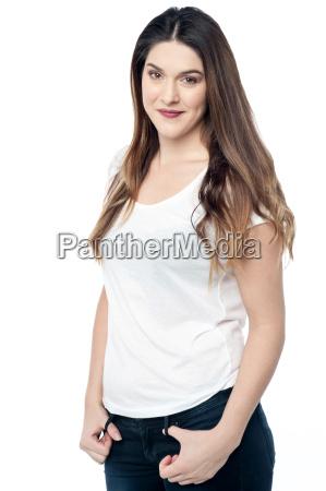 portrait of a confident young woman