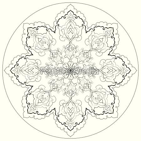 antike ottomanische tuerkische mustervektordesign dreissig