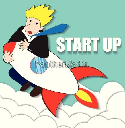 startup unternehmen wohnung design illustration