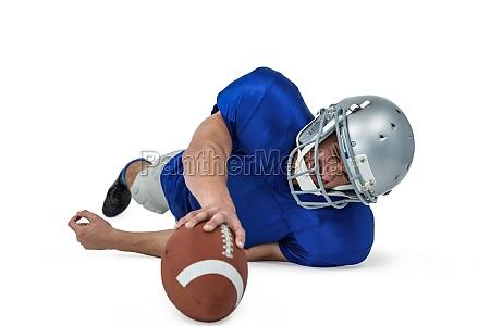 american football spieler kaempfen um den