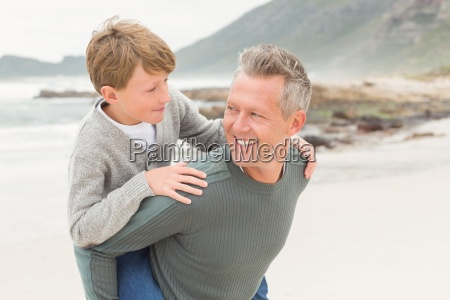young boy with his father