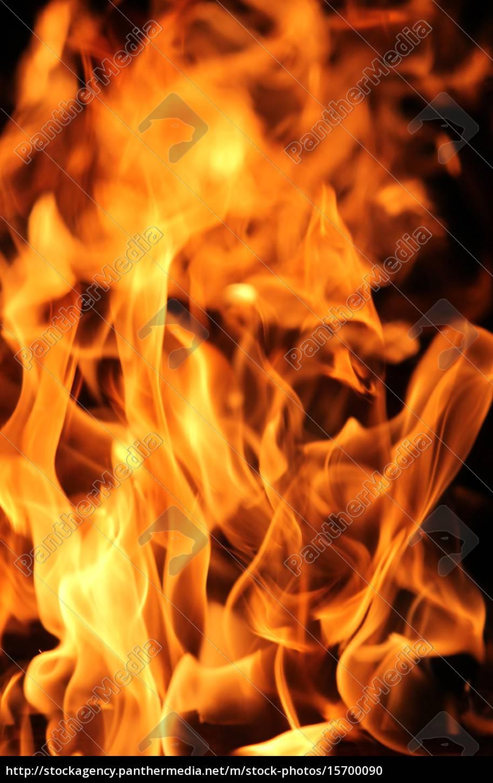 feuer, und, flammen, schwarz, bacground - 15700090