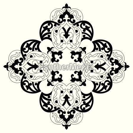 antiguo otomana de disenyo vectorial turco