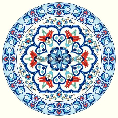 bunte antike ottomanische tuerkische design mustervektor