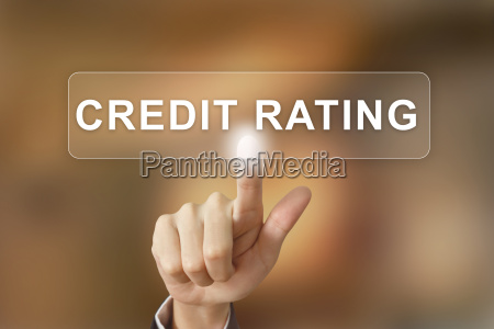 business hand clicking credit rating button