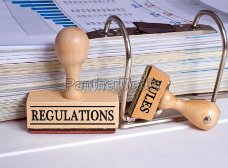 verordnungen und regeln zwei briefmarken