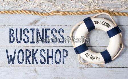 business workshop willkommen an bord
