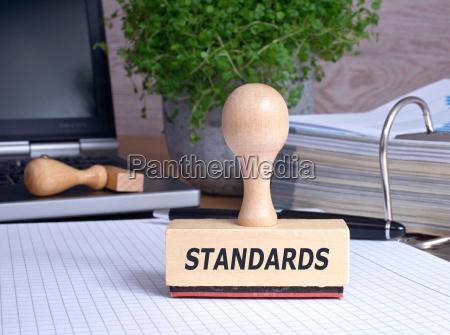 standards stempel im buero
