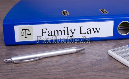 family law blue binder in the