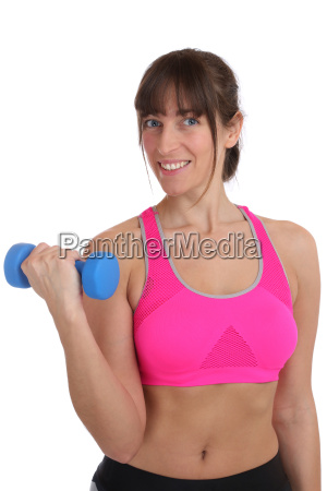 fitness woman laughing during sports workout