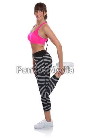 stretching dehnen stretchen strecken fitness frau