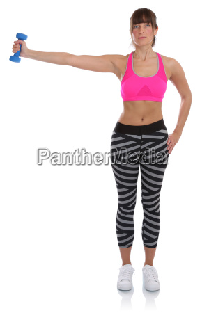 training fitness workout young woman holding