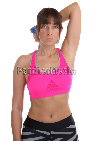 fitness woman in sports workouts with