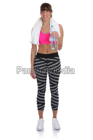 fitness young woman with bottle of
