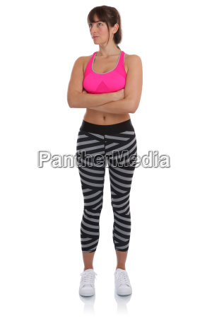 fitness workout woman in sports training
