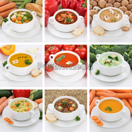 collage soup soups healthy eating tomato