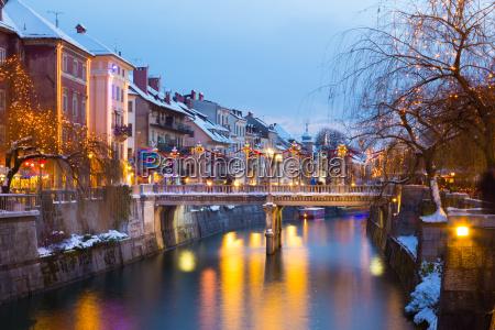 ljubljana in christmas time slovenia europe