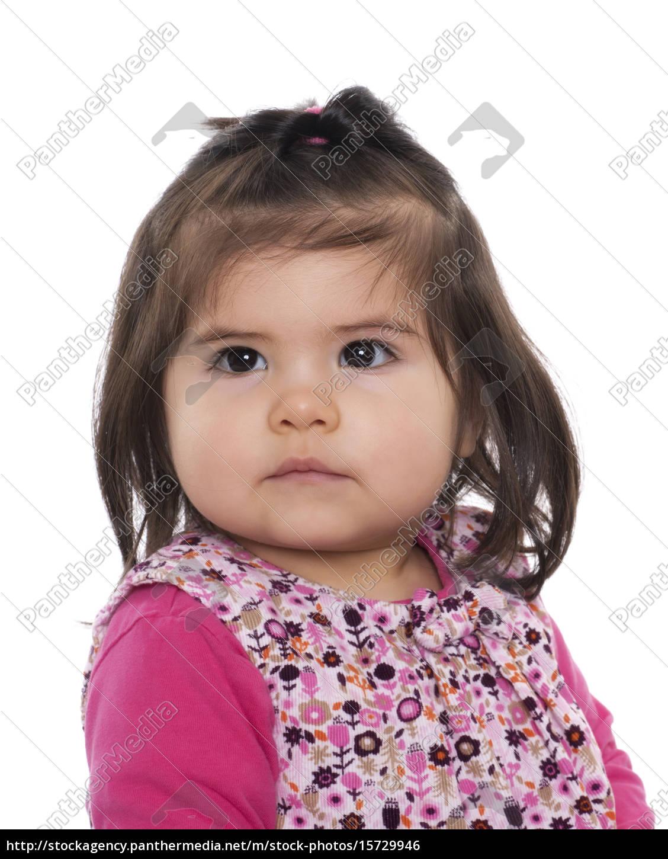 kleinkind, mit, mandelaugen, im, portrait - 15729946