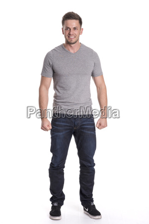 young man in jeans and t
