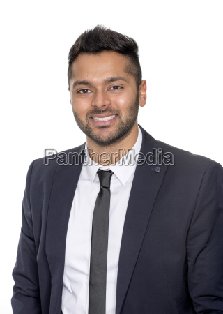 confident smiling man in portrait