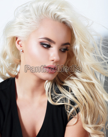 portrait of young beautiful woman blond