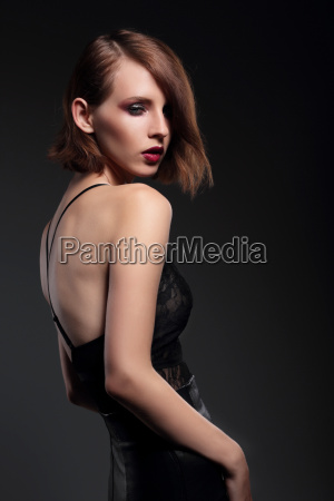 portrait of sensual woman model