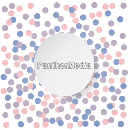 confetti backdrop with white banner rose