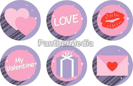 satz von valentine aufkleber