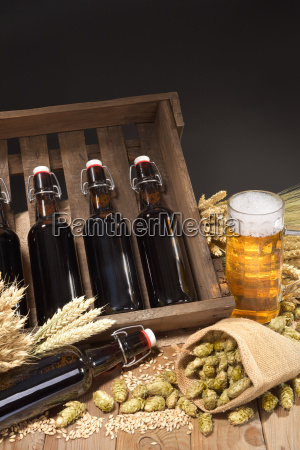 beer box with beer glass