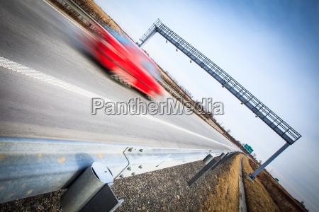 highway traffic bewegung verschwommenes autos