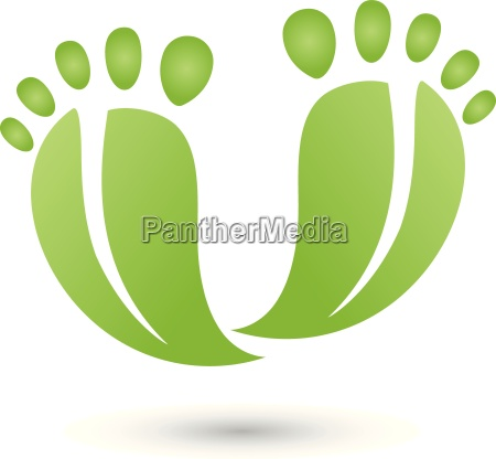 two feet as leaves logo service