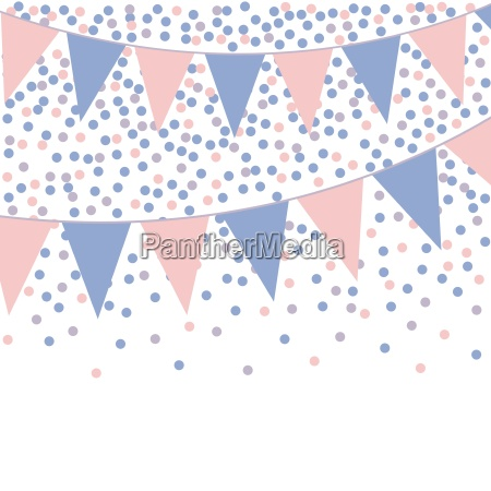 rose quartz and serenity bunting background