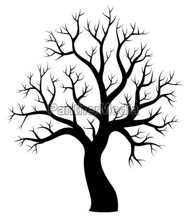 arbol tema silueta imagen 1