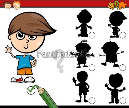 schatten aufgabe cartoon fuer kinder