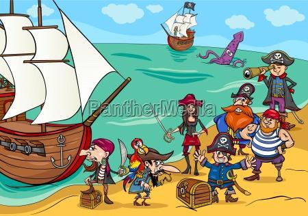 piraci z kreskowki statku