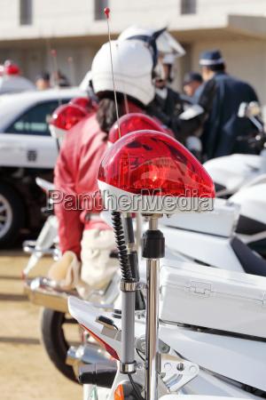 rote polizei licht notlicht