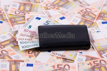 wallet mit europaeischem geld