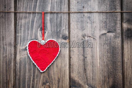 love concept heart hanging on a