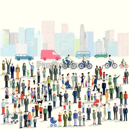 personengruppen in der stadt