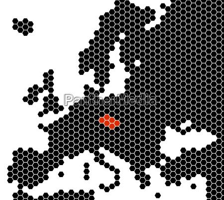 europakarte sechsecke tschechien