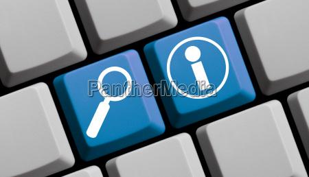online nach infos suchen