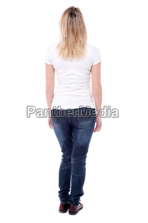 rear view of a woman