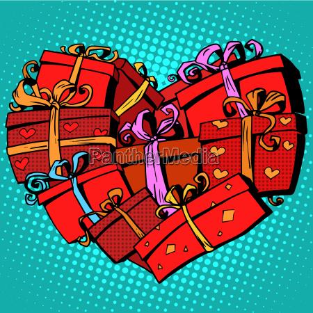box geschenkherz praegte valentinstag