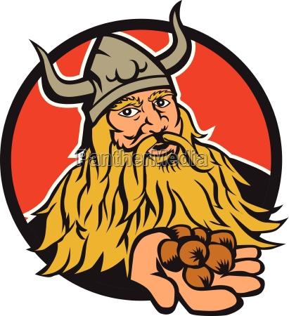 viking handelt haselnusskreis retro