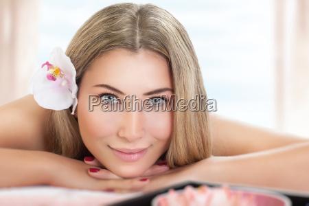 beautiful woman on massage