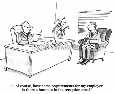 jobkandidat ist in einem interview mit