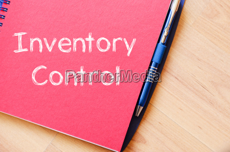 inventory control write on notebook