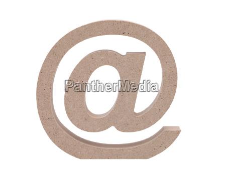 e mail symbol auf weissem hintergrund